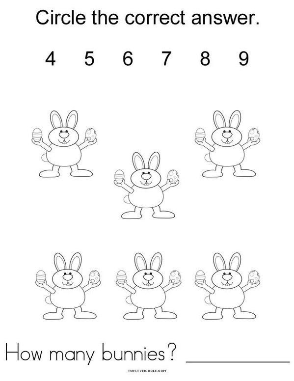 Easter Counting Mini Book - Sheet 4