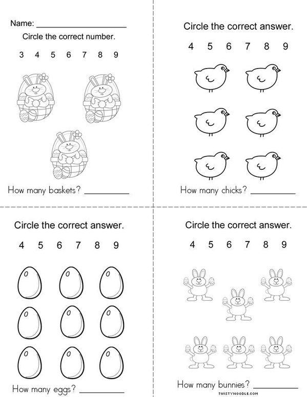 Easter Counting Mini Book