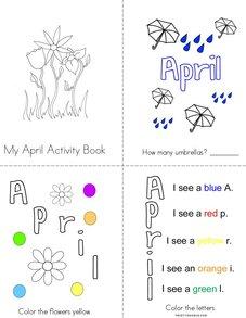 My April Activity Book