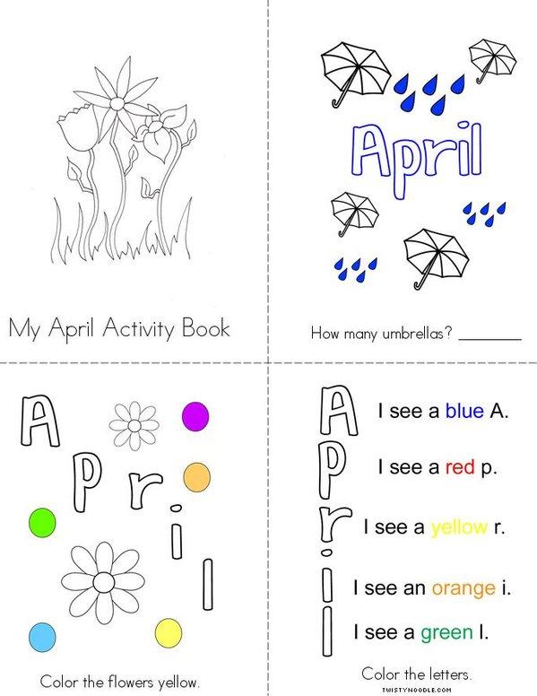 My April Activity Book Mini Book