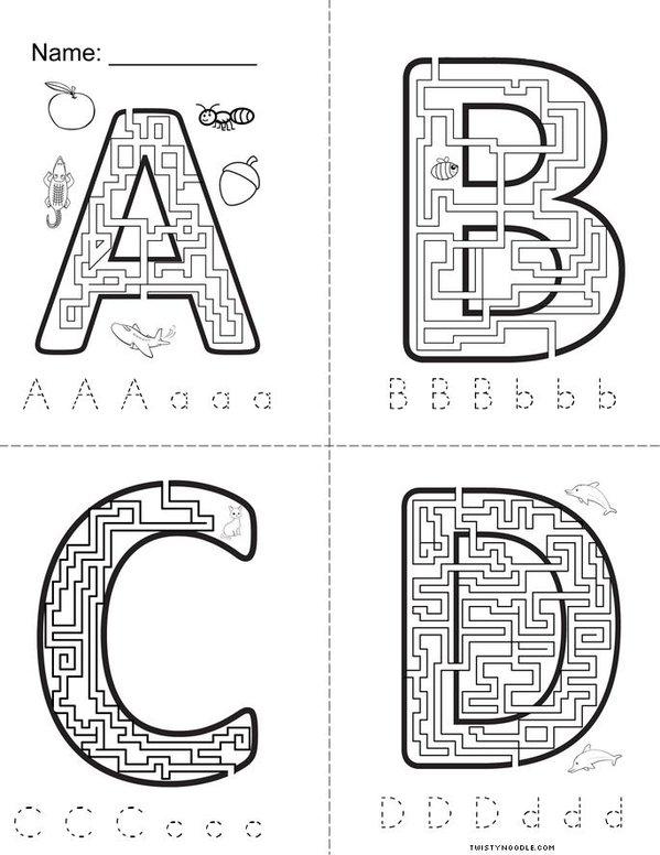 Letter Maze Book Mini Book