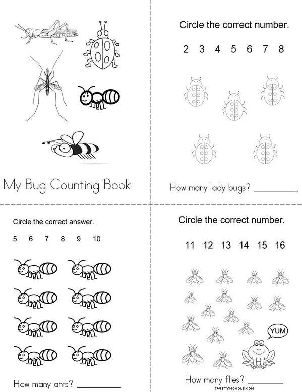 My Bug Counting Book Mini Book