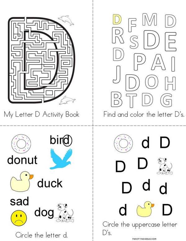 Letter D Activity Book Mini Book