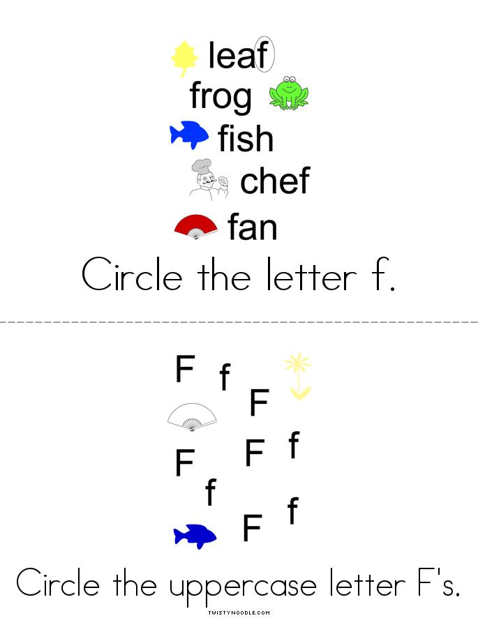 Letter F Activity Book - Twisty Noodle