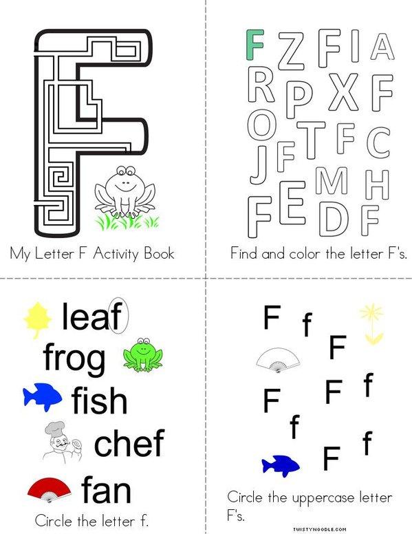 Letter F Activity Book Mini Book