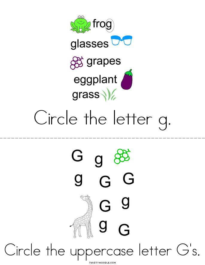 Letter G Activity Book - Twisty Noodle