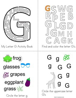 Letter G Activity Book