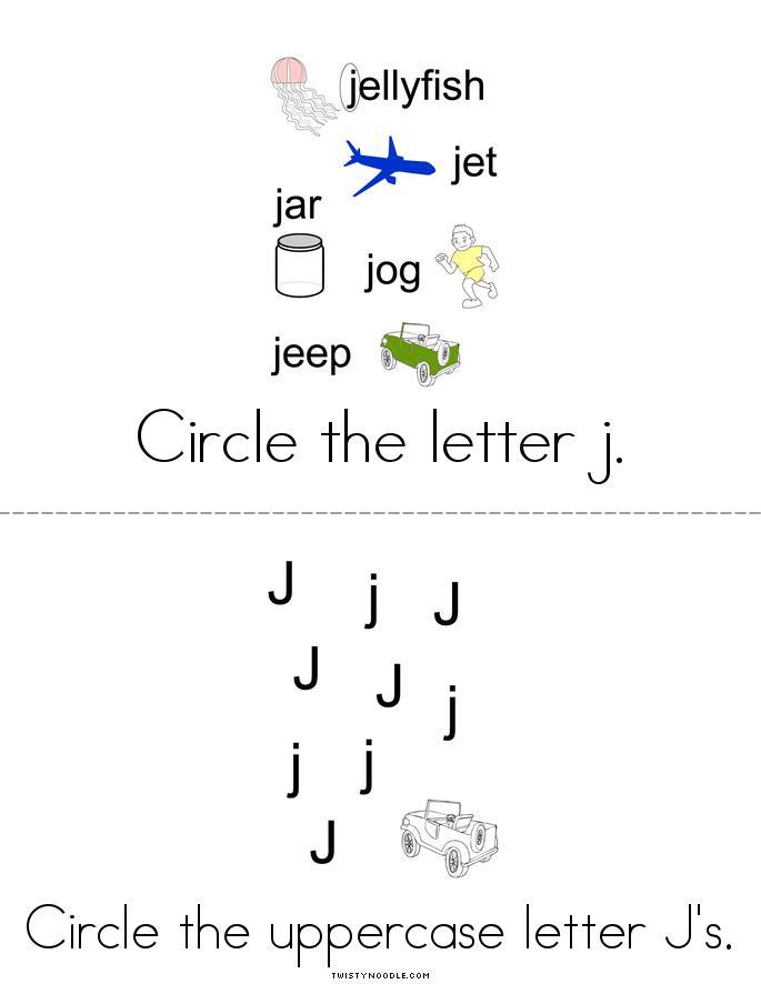 Letter J Activity Book - Twisty Noodle