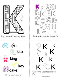 Letter K Activity Book