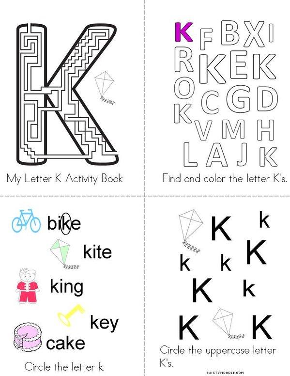 Letter K Activity Book Mini Book