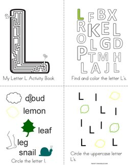 Letter L Activity Book