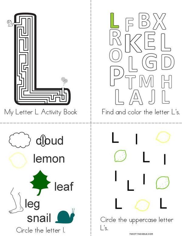 Letter L Activity Book Mini Book