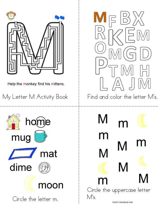Letter M Activity Book Mini Book
