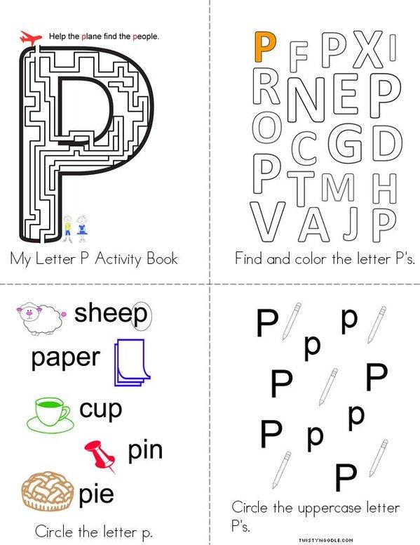 Letter P Activity Book - Twisty Noodle
