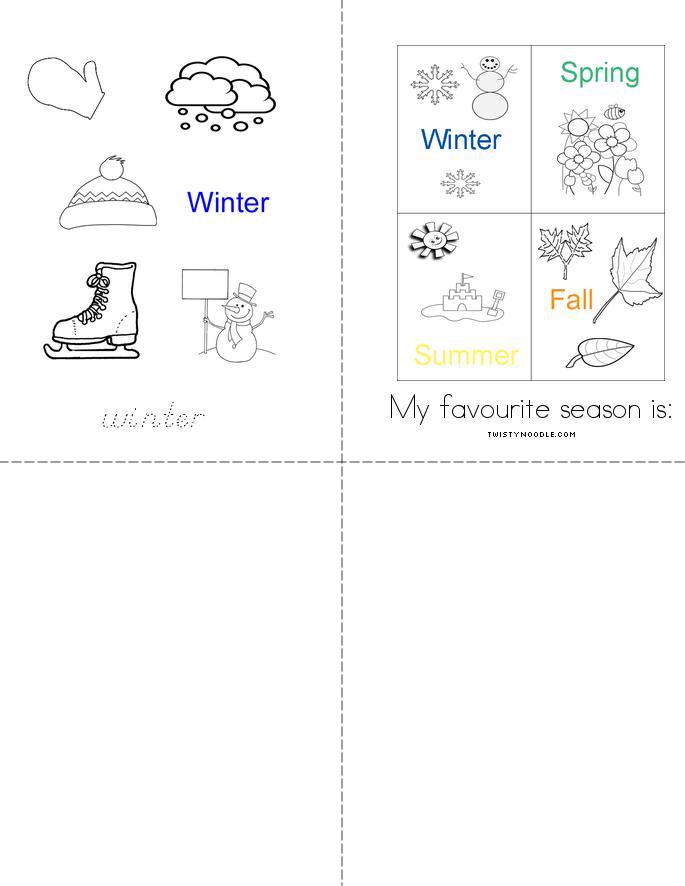 My Seasons Book - Twisty Noodle