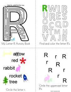 Letter R Activity Book