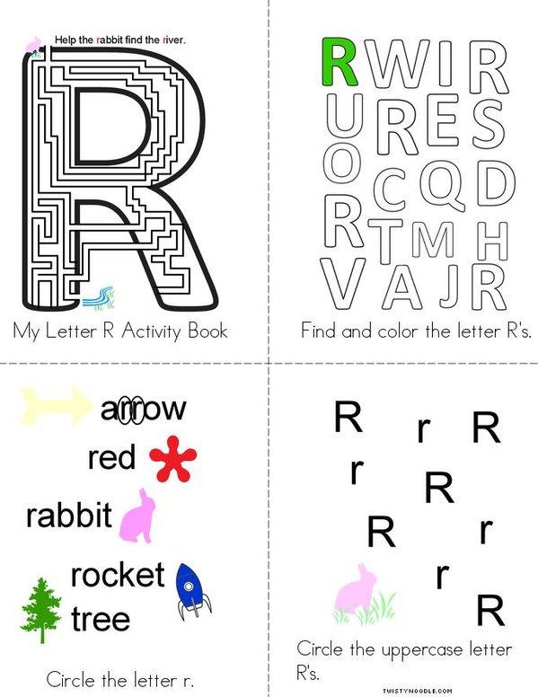 Letter R Activity Book Mini Book