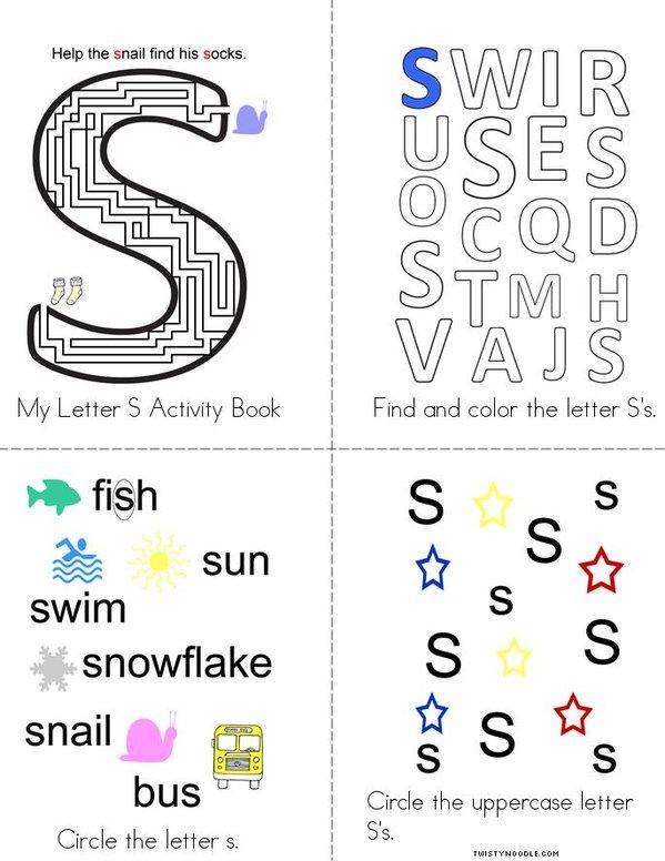Letter S Activity Book Mini Book