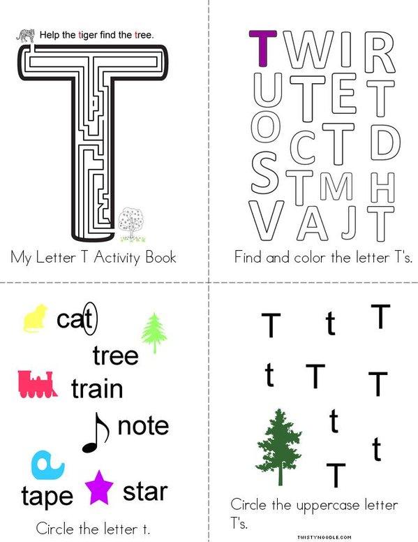 Letter T Activity Book Mini Book