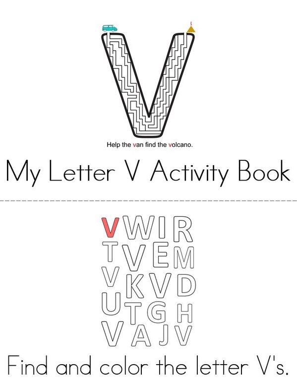 Letter V Activity Book Mini Book - Sheet 1