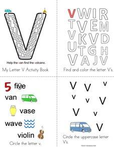 Letter V Activity Book