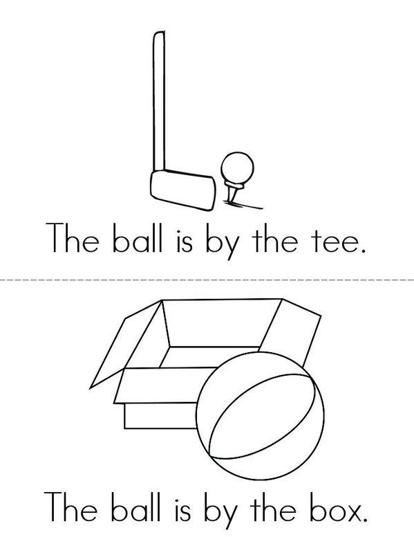 The Ball Mini Book - Sheet 3