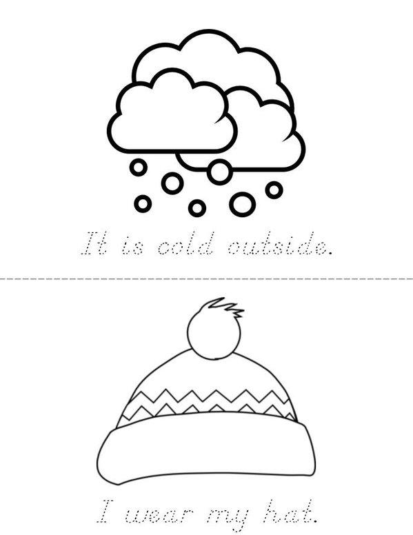 Winter Mini Book - Sheet 1