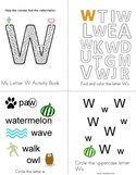 Letter W Activity Book