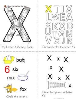Letter X Activity Book
