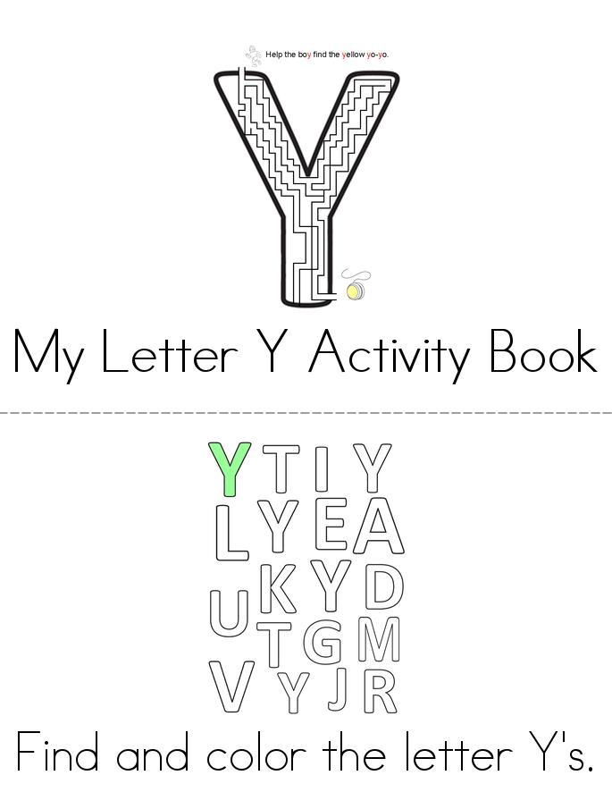 Letter Y Activity Book - Twisty Noodle