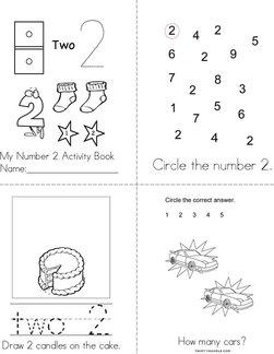 Number 2 Activity Book