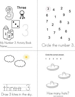 Number 3 Activity Book