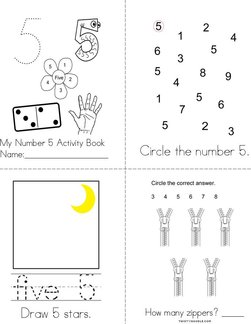 Number 5 Activity Book