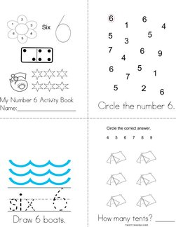 Number 6 Activity Book