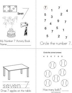 Number 7 Activity Book