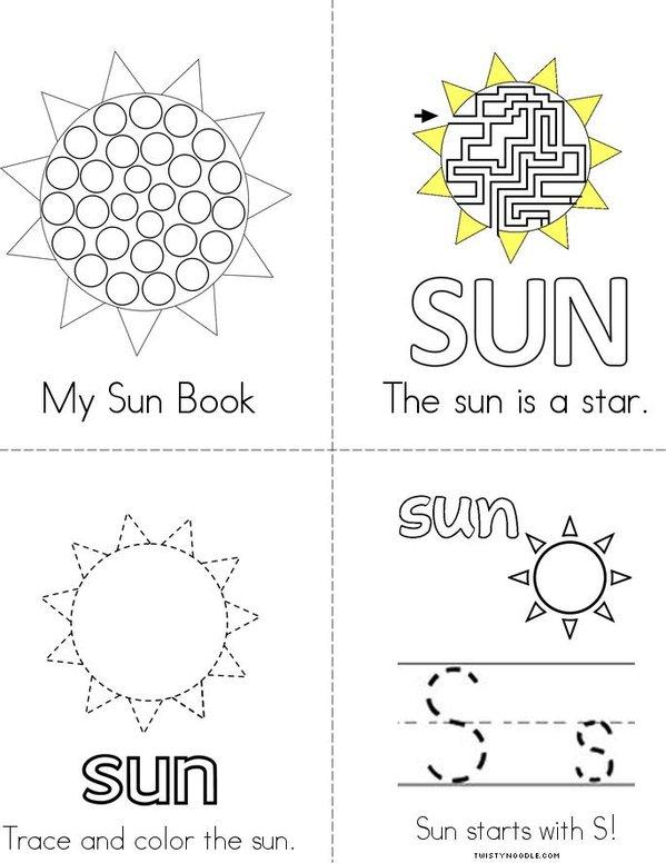 My Sun Book Mini Book