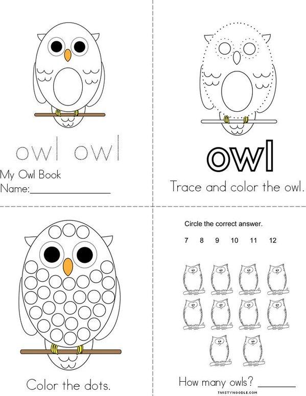 Owl Book Mini Book