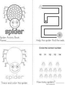Spider Activity Book