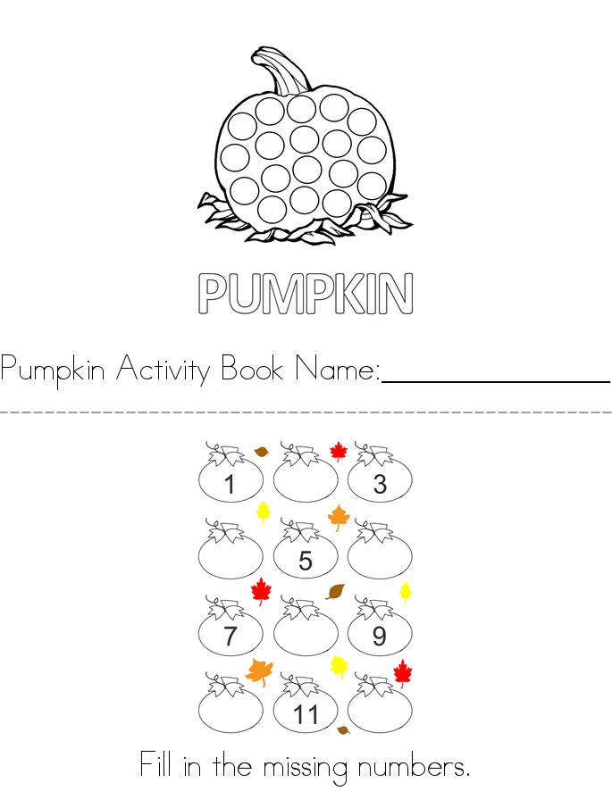 Pumpkin Activity Book - Twisty Noodle