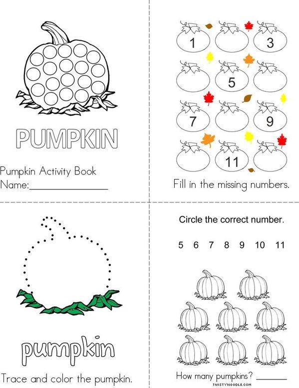 Pumpkin Activity Book Mini Book