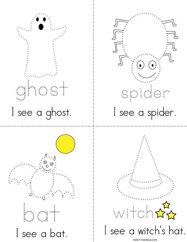 Halloween Tracing Book Mini Book