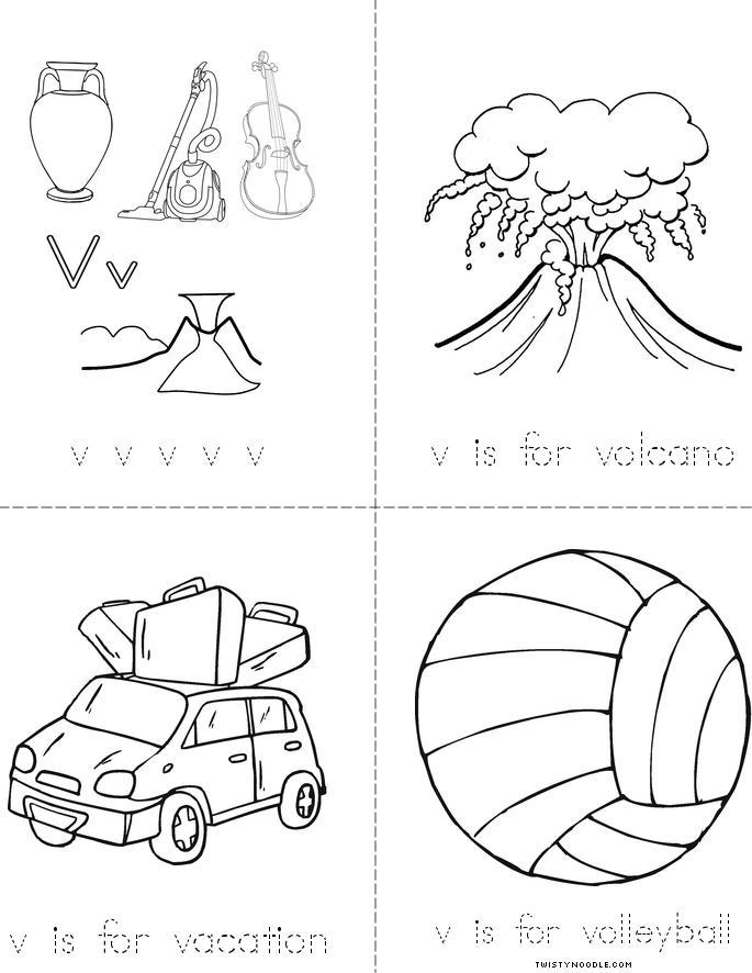 Letter V Book - Twisty Noodle