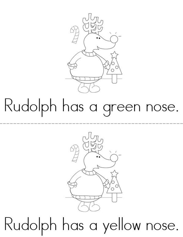 What Color is Rudolph's Nose? Mini Book - Sheet 2