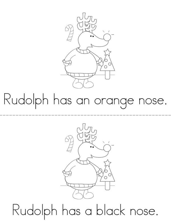 What Color is Rudolph's Nose? Mini Book - Sheet 3