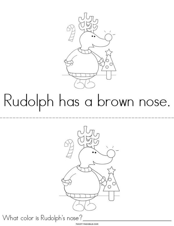 What Color is Rudolph's Nose? Mini Book - Sheet 4