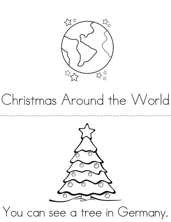 Christmas Around the World Mini Book - Sheet 1