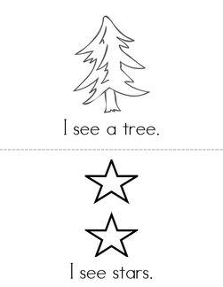 I See a Christmas Tree Book