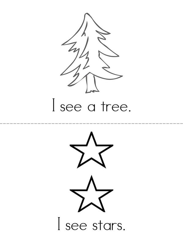 I See a Christmas Tree Mini Book - Sheet 1