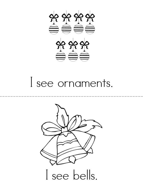 I See a Christmas Tree Mini Book - Sheet 2