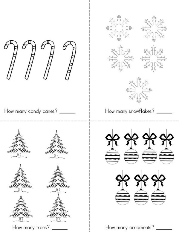 Christmas Counting Mini Book - Sheet 2